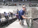 Climbing Angkor Wat