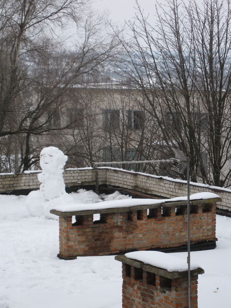 Roof Snowman